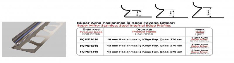 10 MM Roostevaba sisenurk 270cm (Kroompeegel)