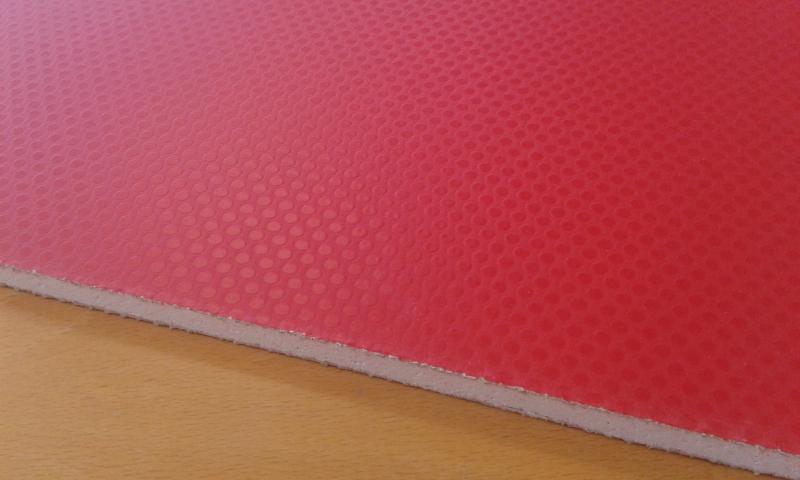 PVC'ga kaetud kipsplaat  60x60x0,8cm (punane)