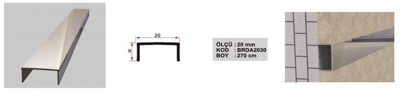 20 MM Alumiinium iluliist sile 270 cm (Hele)