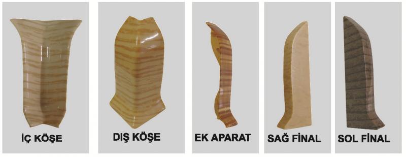 PVC Põrandaliistu vasak lõpp (Merbau)