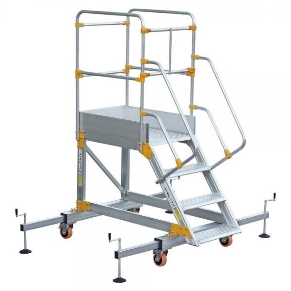 Platform Ladder With Stabilizer