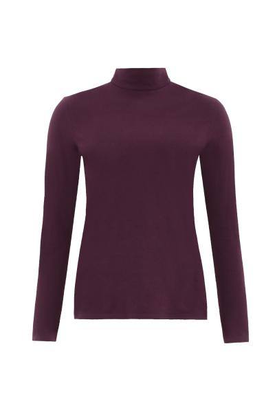 May Turtleneck Top, burgundy