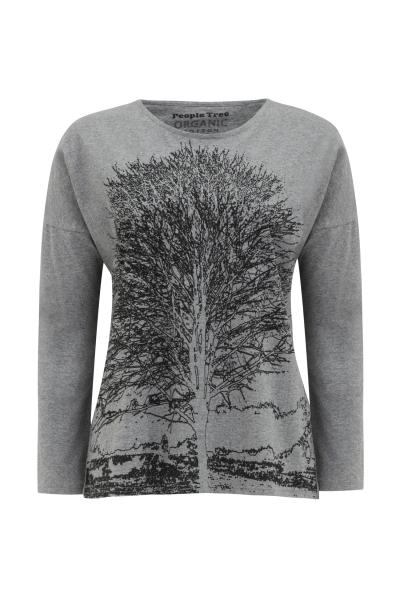 Tree Print Long Sleeve Tee