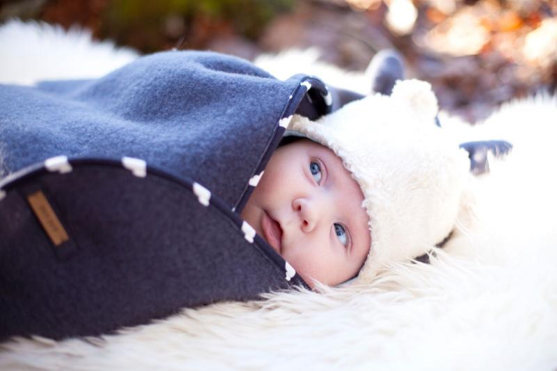 "<span style=""font-size:14px;""><u>Material</u>: 100% organic cotton<br />Lining: 97% organic cotton, 3% elastane <br /><br />Lovely baby hat with ears. On inside light blue lining with cloud print.<br /><br />Produced in Lithuania</span>"