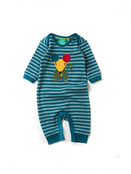 Mr Mouse Stripe Applique Playsuit
