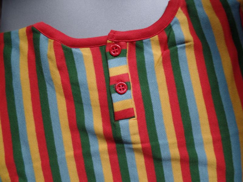 Autumn Rainbow Stripes Forever Dress