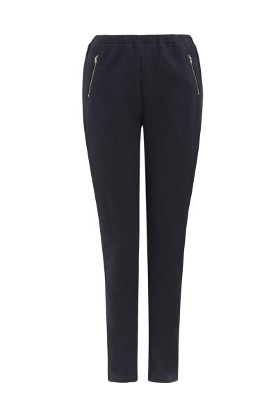 Mandy Fleece Trousers in Dark blue melange