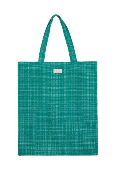 Hand Woven Tote Bag in Green