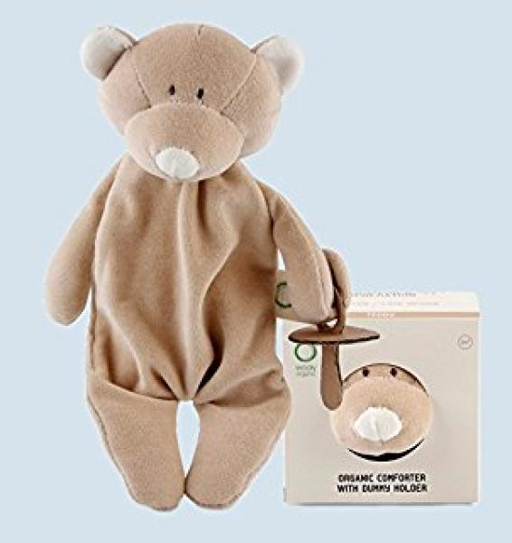 Organic comforter with dummy holder - Teddy