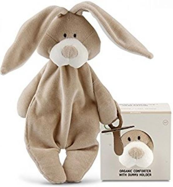 Organic comforter with dummy holder - Bunny