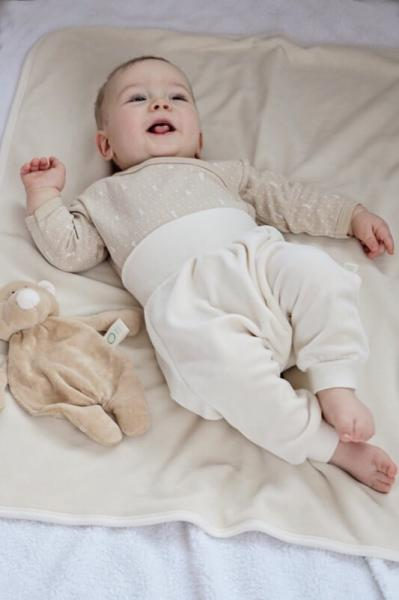 Baby velour pants, natural