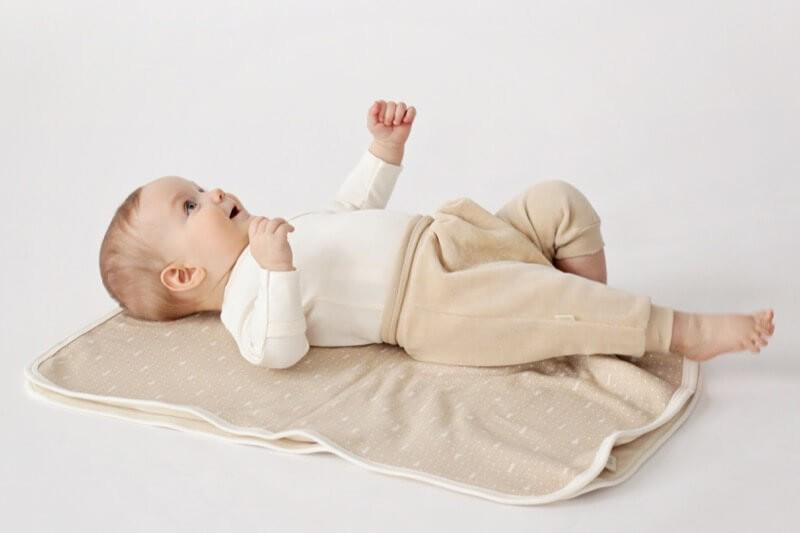Baby velour pants, brown