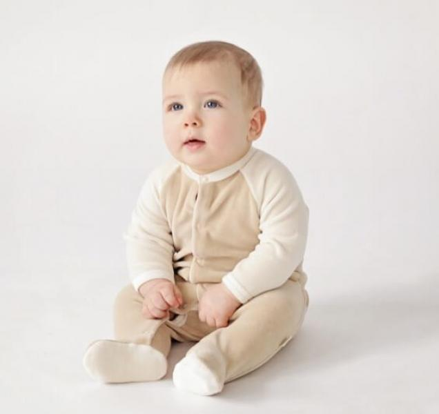 Velour sleepsuit
