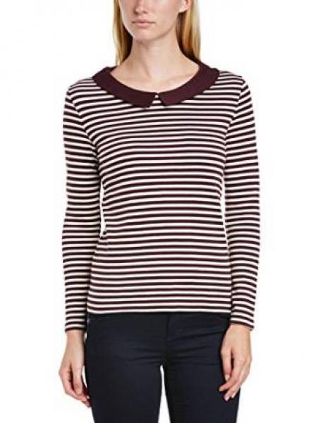 Norah long sleeve stripe collar topp