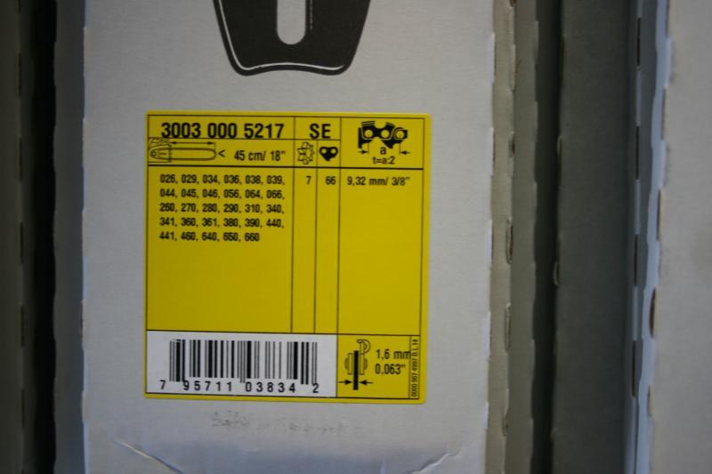 Juhtplaat 18'' 3/8 1,6mm 45cm z11