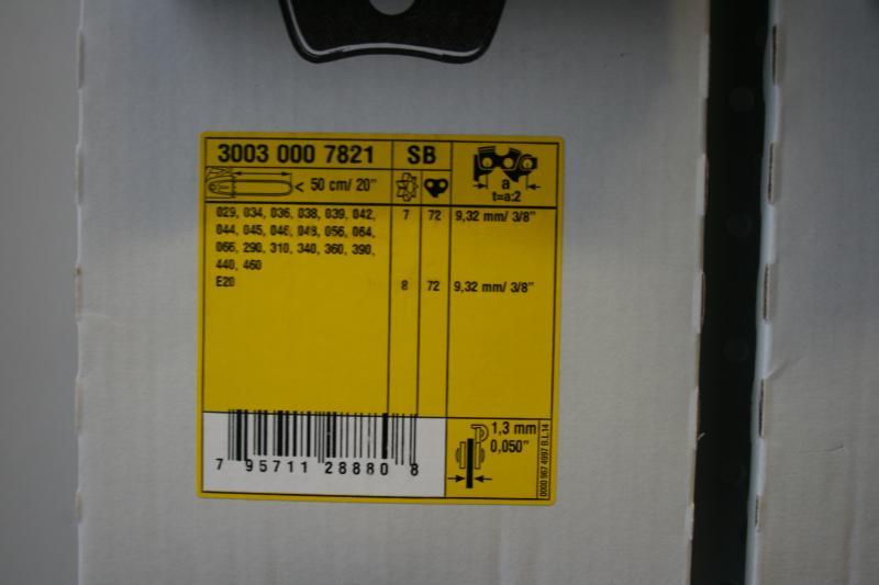 Juhtplaat 3/8P 1,3mm 50cm LOG