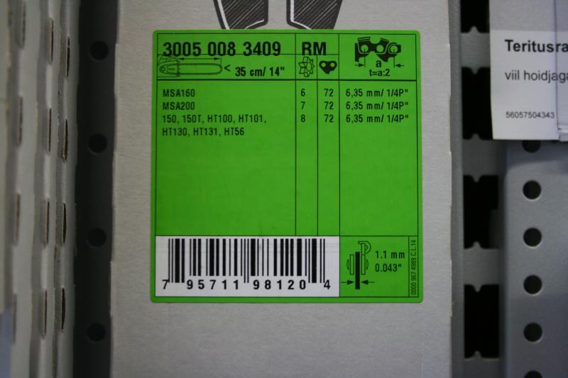 Juhtplaat 1/4 1,1mm 35cm (MS150,MS150T,MSA160)