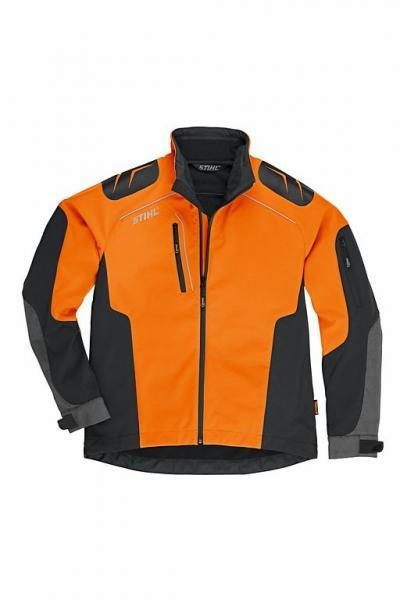 Metsatööjakk Advance X-SHELL meestele oranz/must