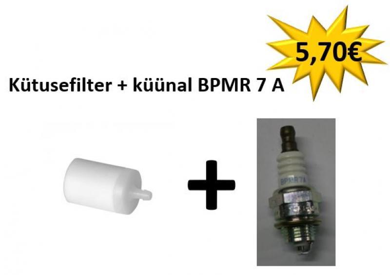 Teised mootorsaed (vanemad mudelid) : Kütusefilter + küünal  BPMR 7 A
