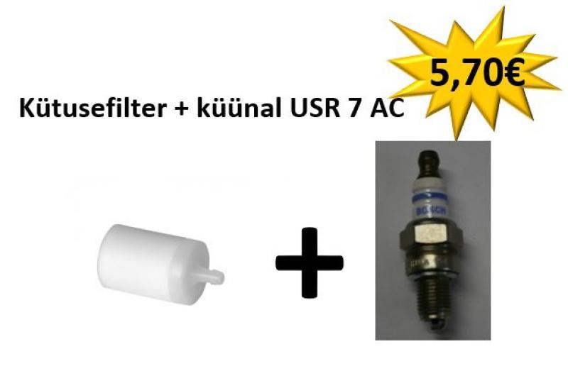 Teised mootorsaed (uuemad mudelid): Kütusefilter + küünal  USR 7 AC