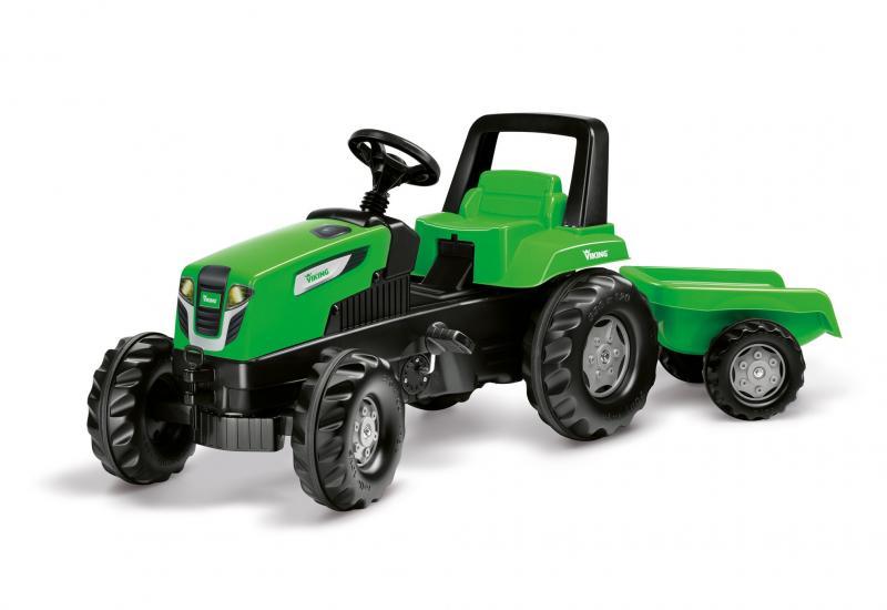 Mängu VIKING Trac Junior traktor koos käruga lastele 2015