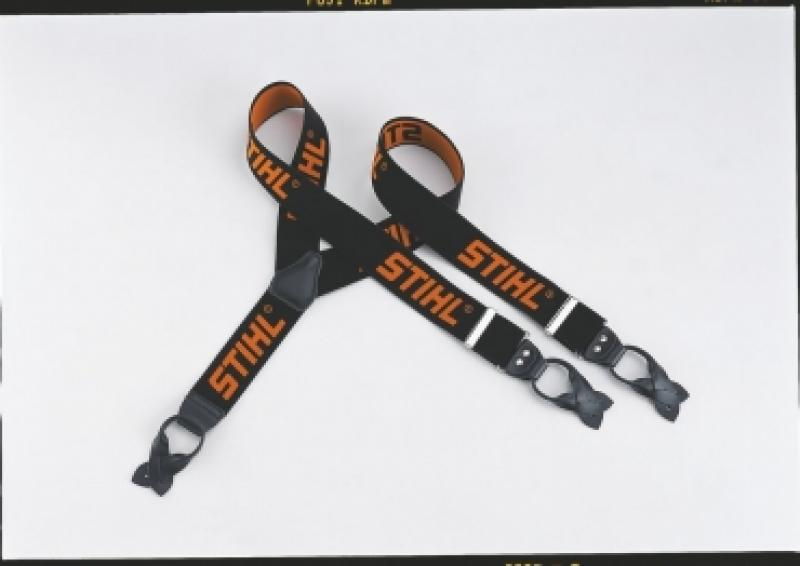 Püksitraksid must/oranz 110cm nööpkinnitus
