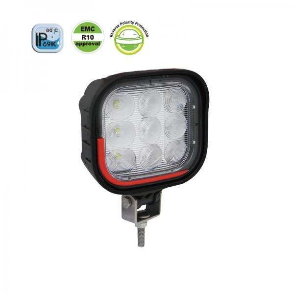 22W LED Work Lamp Flood Beam magnetic mount