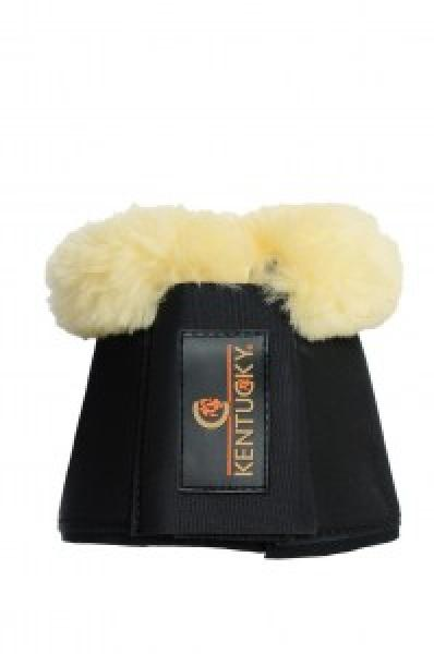 Sheepskin Over reach Boots black