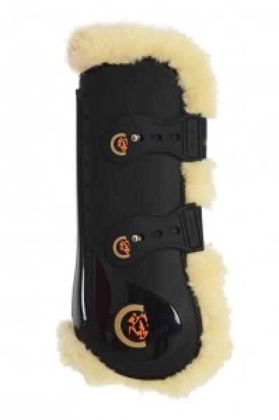 Kentucky Sheepskin Tendon Boots Elastic black