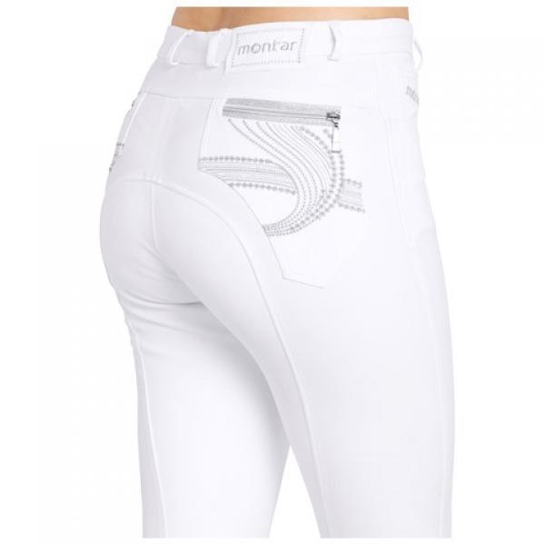 Montar valged püksid silikon grippidega