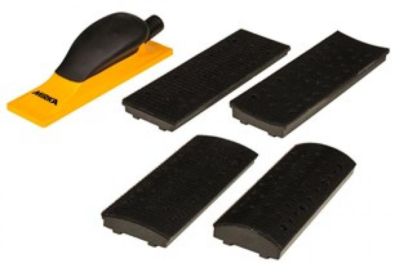 Sanding Block Kit 70x198mm Grip 40H Yellow (4in1)