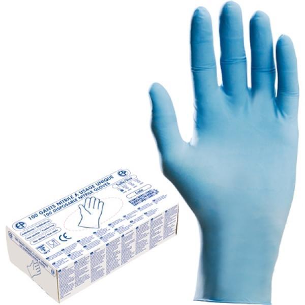 Перчатки нитриловые с пудрой размер XL  / 100шт-упаковка