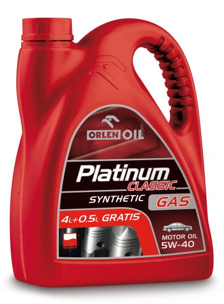 O. PLATINUM CLASSIC GAS SYNTHETIC 5W-40 4,5L