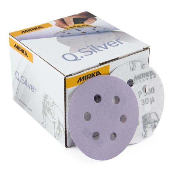 Q. SILVER 150mm  H6 P120 grip
