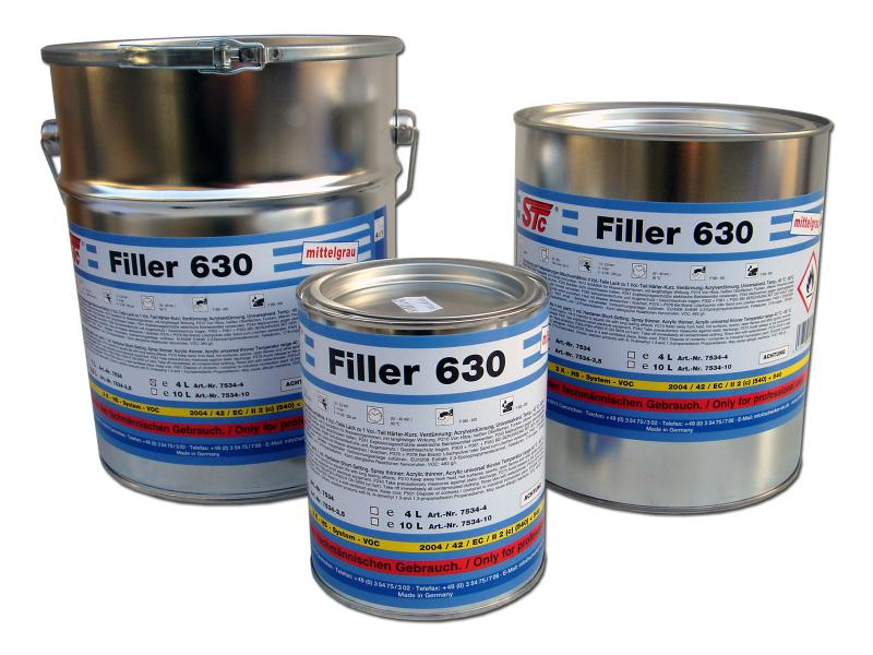 Filler 630 2K-HS 3,5L medium grey