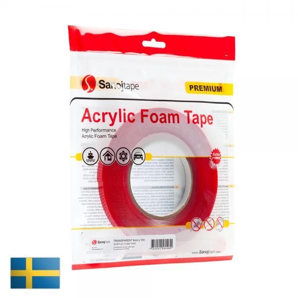 Acrylic foam tape transparent 12mm x 10m