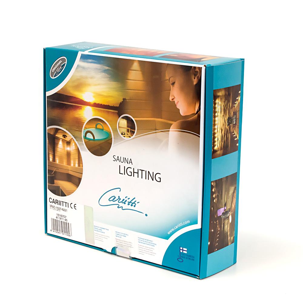 Cariitti lighting sauna set with projector VPAC-1527-N211 (IP65) 10 + 1