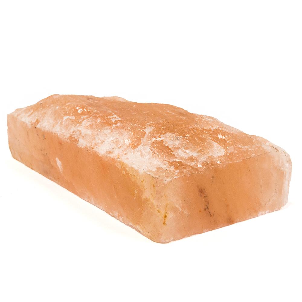 Himalayan Salt Brick, front side crushed, 200x100x50mm