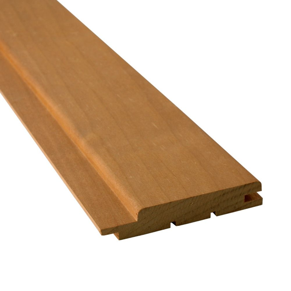 Sauna Heat treated aspen wall panel STP 15x90, 1800mm
