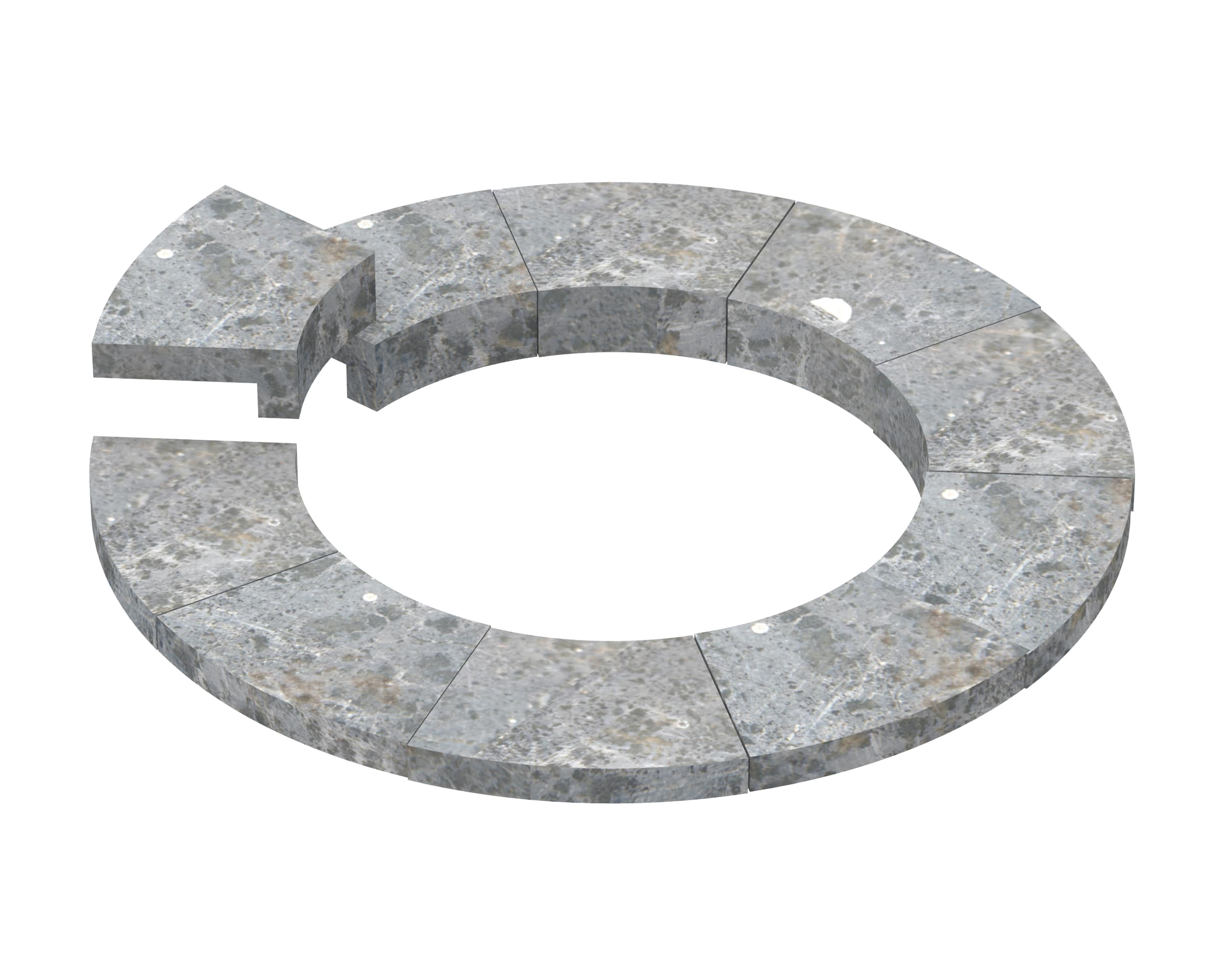 Sawo Soapstone Embedding Flange for Tower TH2 Round