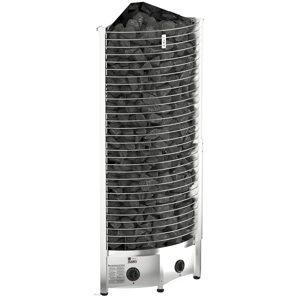 Elektrische saunaöfen Sawo Tower Corner TH6 8.0kW, mit eingebauter Steuerung