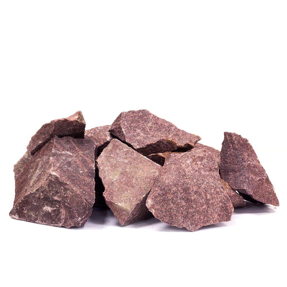 Sauna stones, red quartzite, 20kg, 10-15cm