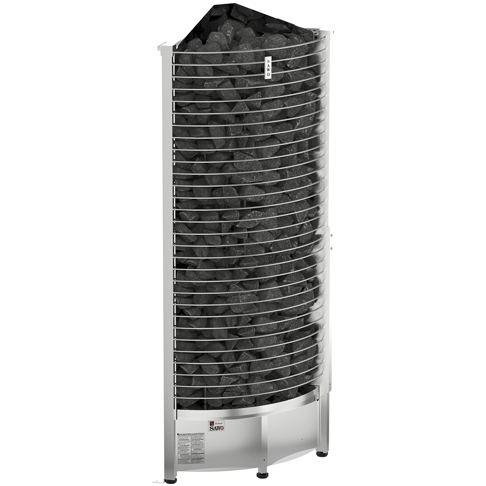 Sauna Electric heater Sawo Tower Corner TH6 9.0kW, Without contactor, without control unit