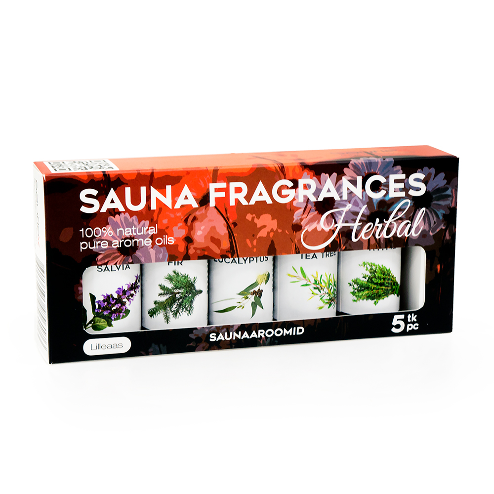 SAUFLEX SAUNA ESSENTIAL OIL COLLECTION 5X15ML Herbal