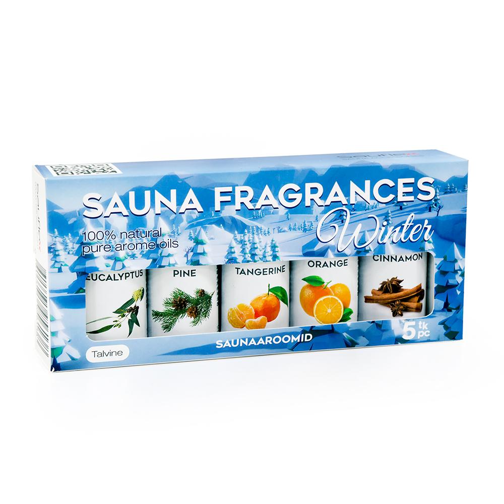 SAUFLEX SAUNA ESSENTIAL OIL COLLECTION 5X15ML Winter