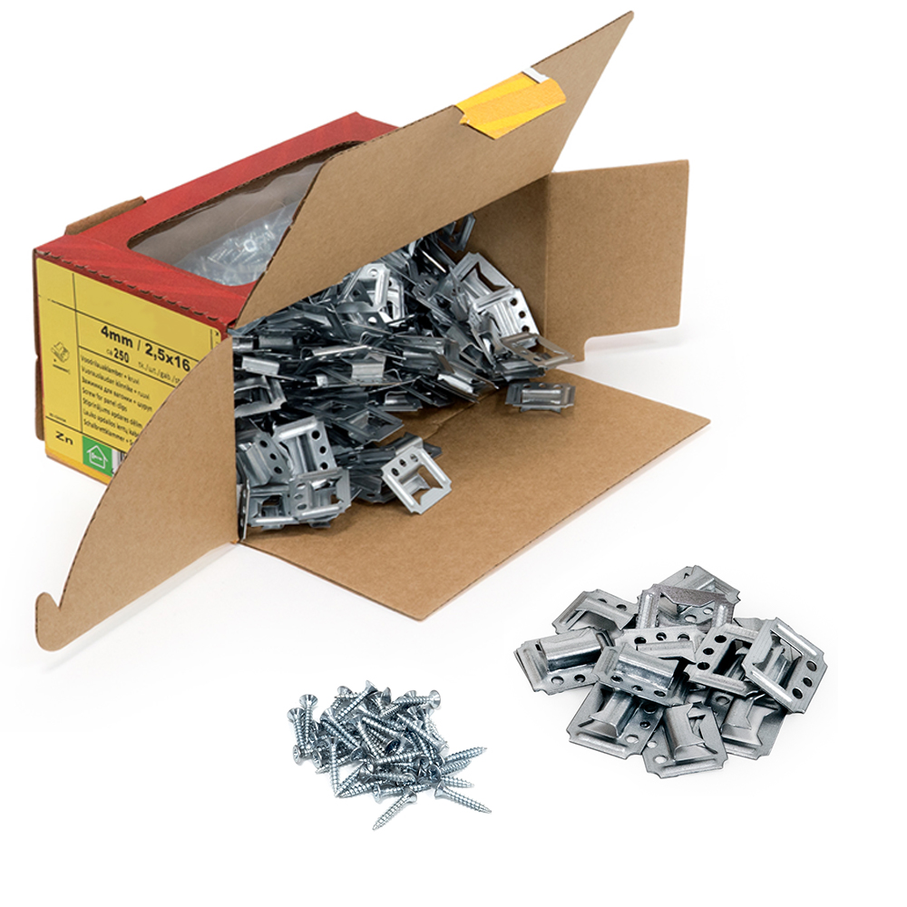 Fastening Clips C3 3mm With Screws 2,5x16 mm