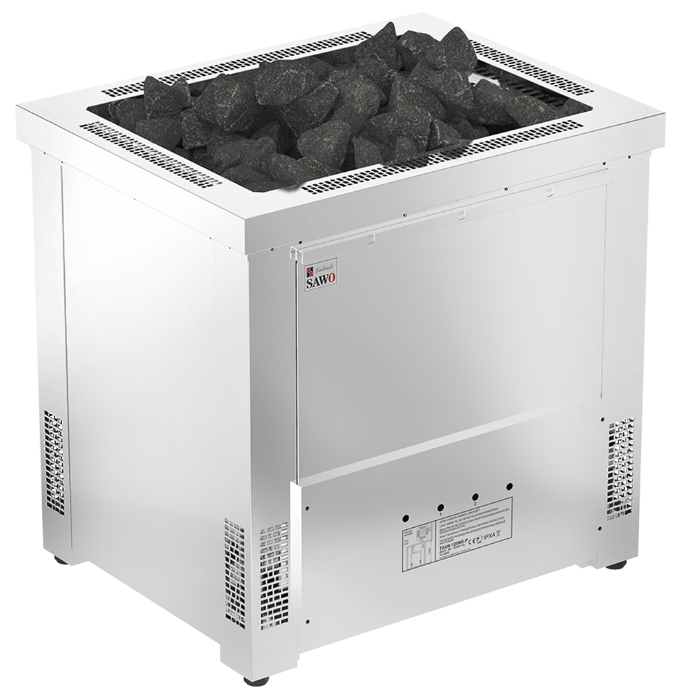 Elektriska bastuaggregat Sawo Taurus 18.0kW, avdelare för bastustenar