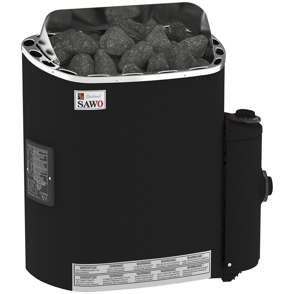 Sauna Electric heater Sawo Scandia Fiber 8.0kW, With integrated control unit