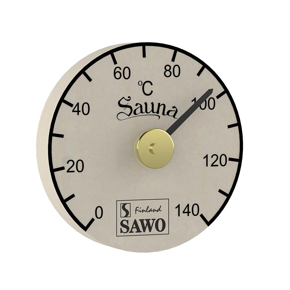 Sawo Thermometer 100-TBA, Round, Aspen