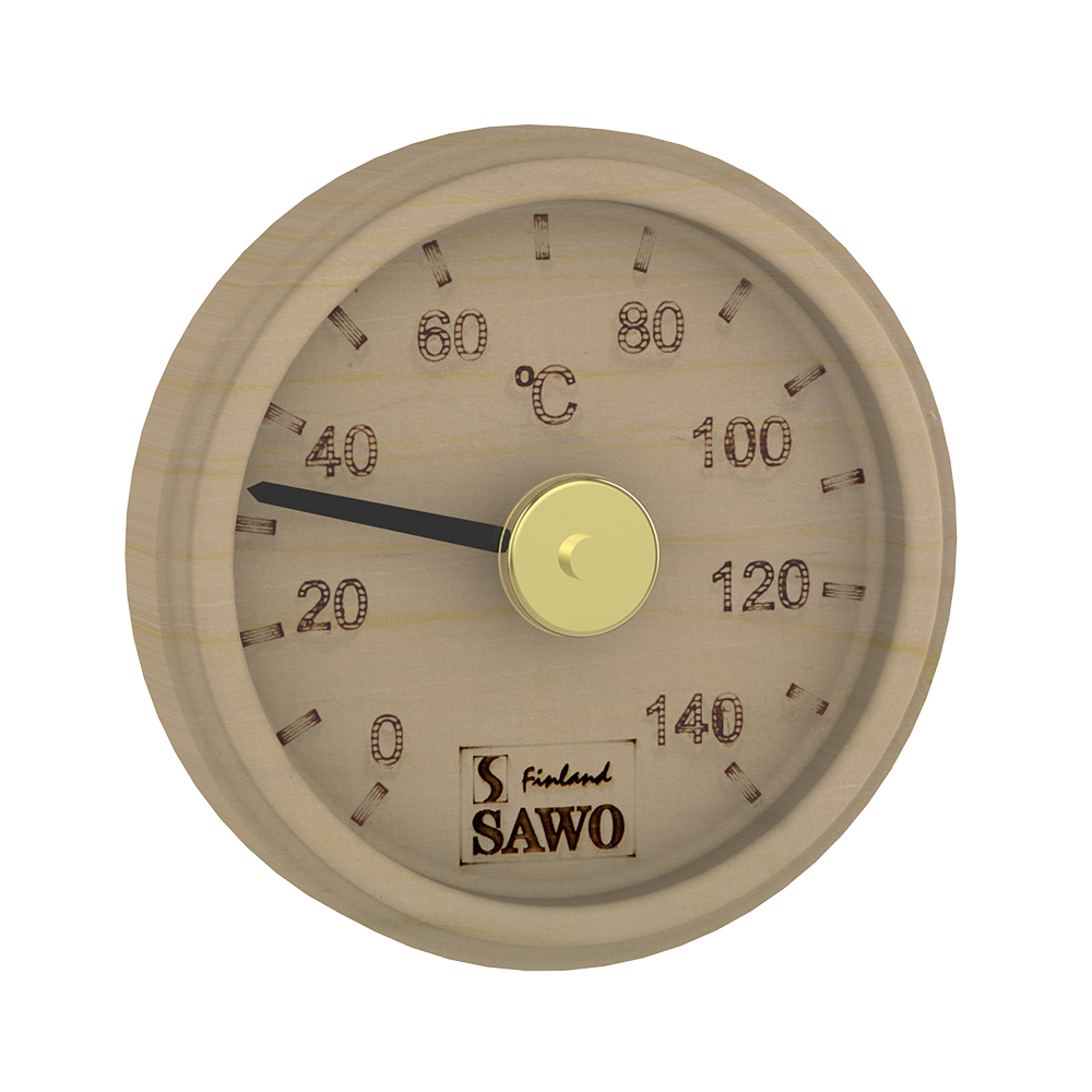 Sawo Thermometer 102-TP, Engraved round, Pine